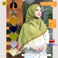 Jilbab Segi Empat Noor Syari LC Voal Motif 3 by Azara Scarf - Hijab
