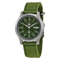 Jam Tangan Unisex Seiko 5 SNK805K2 Automatic 21 Jewels Green Military