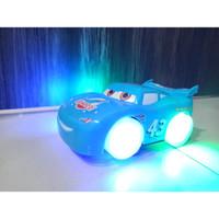 Mainan mobil cars mcqueen racing rivalry suara nyala track car race