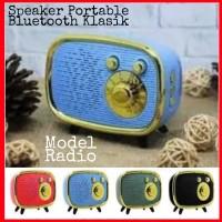 Stock Terbatas! Speaker Portable Wireless Bluetooth Style Radio Klasik