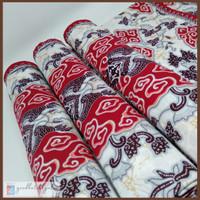 Kain Batik Megamendung Asli Cirebon Premium 215x115 - Merah