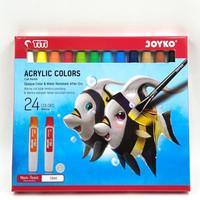 Acrylic Color / Cat Acrylic / Cat Akrilik Joyko TiTi 24 Warna 12ML