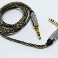 High End Headphone Cable Aux 8 Braid Silver Plated M2M Audiophile
