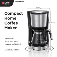Russell Hobbs Compact Coffee Maker - Mesin Pembuat Kopi