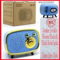 Speaker Portable Wireless Bluetooth Style Radio Klasik