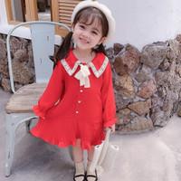PROMO!! DRESS ANAK PEREMPUAN IMPOR FASHION PLISKET PITA KOREAN STYLE