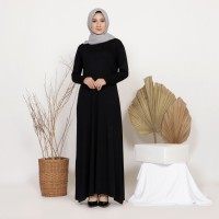 Mybamus Arisha Basic Long Dress Black M15567 R42S6