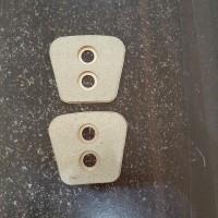 clutch button kampas bronze