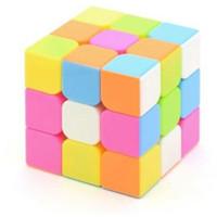 Rubik 3x3 Yongjun Magic Cube Stickerless Pink / Speedcube 2x2 4x4 dll