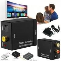 Converter Audio Digital to Analog - Optical / Toslink to 2 RCA