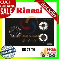 Rinnai Kompor Tanam Gas 3 Tungku - RB 73 TG Garansi Resmi