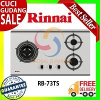 Kompor Tanam Gas 3 Tungku by Rinnai - RB-73TS Free Ongkir
