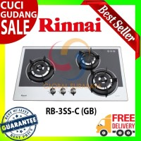 Rinnai Kompor Tanam Gas 3 Tungku - RB-3SS-C (GB) Garansi Resmi