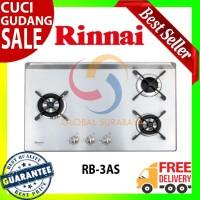 Kompor Tanam Gas 3 Tungku Rinnai - RB-3AS - Free Ongkir