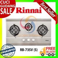 Kompor Tanam Gas 3 Tungku Rinnai - RB-73SV (S) - Free Ongkir