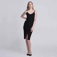 HAYAMI KNIT DRESS BLACK LOOKBOUTIQUESTORE