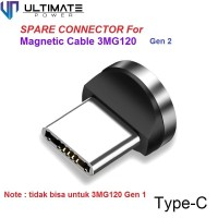 Ultimate Konektor Charger Type C untuk Magnetic Cable 3MG120 Gen 2