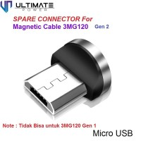 Ultimate Konektor Charger Micro USB untuk Magnetic Cable 3MG120 Gen 2