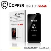 Xiaomi Redmi 9 - COPPER Tempered Glass FULL GLUE PREMIUM GLOSSY