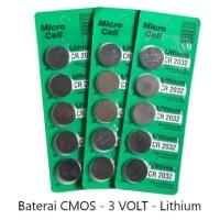 Baterai Batre CR2032 baterai remote kalkulator Micro Cell