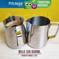Jug susu Marker 600ml Milk Jug Takar Timbul Conalli Latte Art Jug