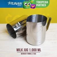 Milk Jug Marker 1 Liter 1000ml Jug Susu Barista Scale Marker Timbul