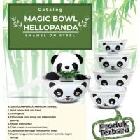 Mangkok Panda Set 5 Pcs Mangkok Enamel Maspion Magic Bowl Hello Panda