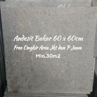 Batu alam Andesit Bakar 60 x 60cm Free Ongkir Area Jkt dan P Jawa