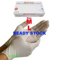 Sarung Tangan Karet Altamed/Sarung Tangan Latex Altamed Gloves 100pcs