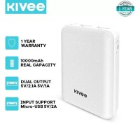 PowerBank Kivee 10000mah Mini Dual USB Fast Charging Phone PT32