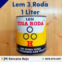 Lem Kuning Tiga Roda - Liter (Busa, Plastik, Sepatu, Triple, dll)