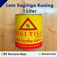 Lem Segitiga Kuning - Liter (Perekat Busa, Kayu, Triplek, Sepatu, dll)