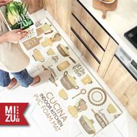 CUCINA Indoor Kitchen Mat PVC Foam House Mat Keset Busa Dapur Rumah - WHITE L
