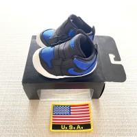 Sepatu Jordan 1 Baby Royal toe Authentic Sneakers Bayi Anak Kids - 19.5