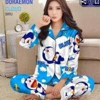 Baju Tidur Piyama Motif Doraemon
