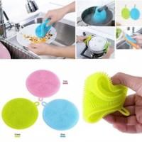 SPON SILIKON CUCI PIRING - DISH SPONGE SILICONE CLEANING WASH-TATAKAN