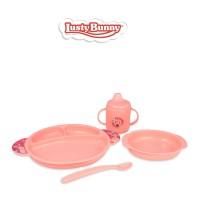 Lusty Bunny Perlengkapan makan Bayi Feeding Set 5in1 LB-1355
