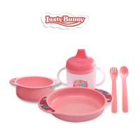Lusty Bunny Perlengkapan makan Bayi Feeding Set 6in1