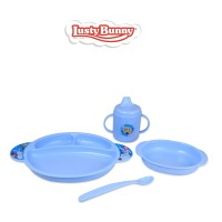 Lusty Bunny Perlengkapan makan Bayi Feeding Set 5in1