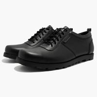 Sepatu Casual Formal Pria Hitam d098 Sol Karet PO SIZE BESAR