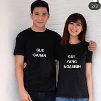 BAJU couple GUE GAJIAN / KAOS pasangan BIG SIZE M L XL ( dpt 2 pc )
