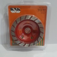 "KNK Diamond Wheel Cup 4"" Turbo mata gerinda mangkok 4 inci"