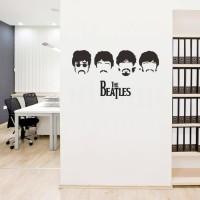 Wall Sticker The Beatles Kaca Kantor Rumah Murah - Putih