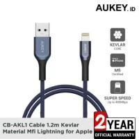 Aukey Cable AK-L1 MFI USB A To Lightning Kevlar 1.2 M