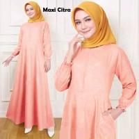 Gamis Wanita / MAXI Dress / Fashion Muslim Polos Warna Salem