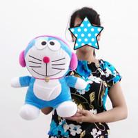Boneka Doraemon Headset Ukuran 30cm - Doraemon Walkman Pink