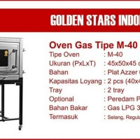Oven Gas Golden Star M-40 Via Ekpedisi Happyshop03