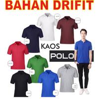 DRIFIT kaos kerah polo shirt berkerah polos sport grosir pria cowok