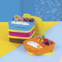 Tuperware Lolly Tup Tempat Makan Bersekat Tutup Kuning Set isi 4