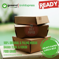 Kraft Paper lunch Box / Kotak Makan Polos / KFG001 (18cm x 12cm x 6cm)